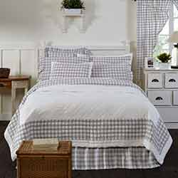 Annie Buffalo Grey Check King Quilt