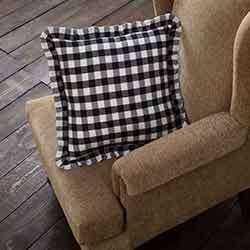 Annie Buffalo Black Check Throw Throw Pillow (18 inch)