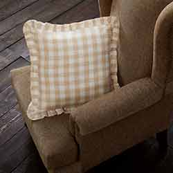 Annie Buffalo Tan Check Throw Throw Pillow (18 inch)
