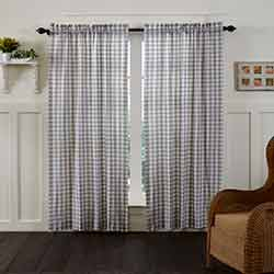 Annie Buffalo Grey Check 84 inch Panels