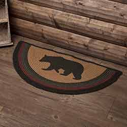 Wyatt Bear Braided Rug - Half Circle