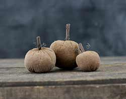 Small Primitive Stuffed Pumpkins (Set of 3)