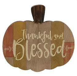 Thankful & Blessed Pumpkin Wall Decor