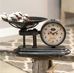 Decorative Antique Scale Clock