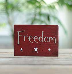 Freedom Sign with Stars