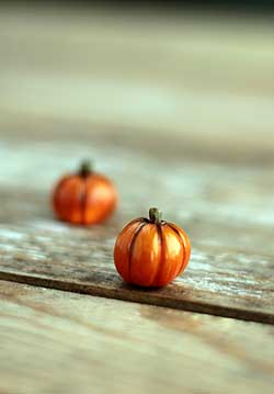 Miniature Pumpkin Figurine - Small