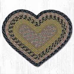Brown, Black, and Charcoal Heart Placemat