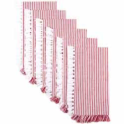 Ashton Red Napkins (Set of 6)
