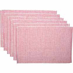 Ashton Red Ribbed Placemats (Set of 6)