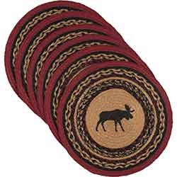 Cumberland Moose Braided Placemats (Set of 6) - Round