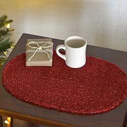 Dyani Red Placemats (Set of 6)