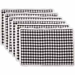 Emmie Black Placemats (Set of 6)