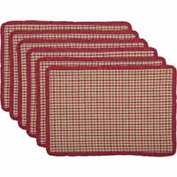 Jonathan Christmas Plaid Ruffled Placemats (Set of 6)
