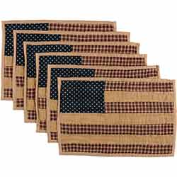 Patriotic Patch Quilted Placemats (Set of 6)