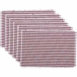 Tara Burgundy Ribbed Placemats (Set of 6)