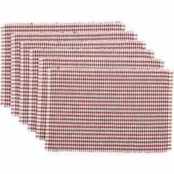 Tara Rust Ribbed Placemats (Set of 6)