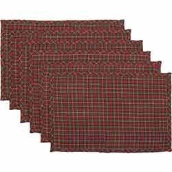 Tartan Holiday Placemats (Set of 6)