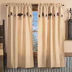 Kettle Grove Short Panel with Attached Crow and Star Valance
