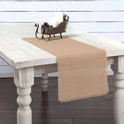Jute Burlap Natural 36 inch Table Runner