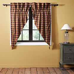 Heritage Farms Primitive Check Prairie Curtain