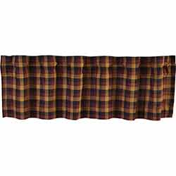 Heritage Farms Primitive Check 72 inch Valance