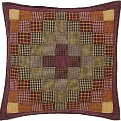 Heritage Farms Primitive Check Euro Quilted Sham