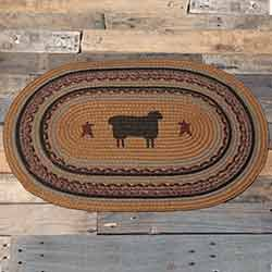 Heritage Farms Sheep Braided Rug