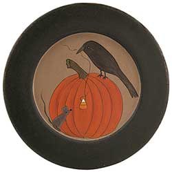 Crow, Pumpkin, & Mouse Plate