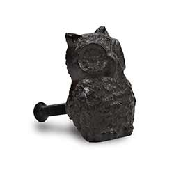 Cast Iron Owl Knobs (Set of 6)