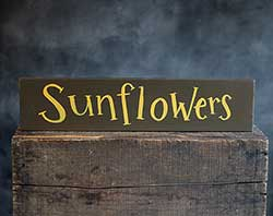 Sunflowers Wood Sign