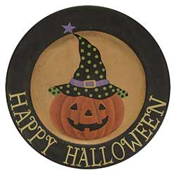 Happy Halloween Primitive Plate