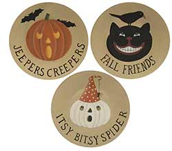 Halloween Friends Plates (Set of 3)
