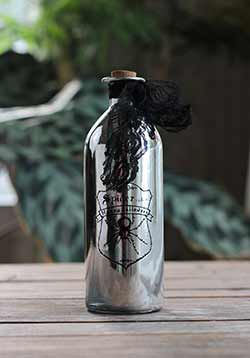 Silver Halloween Potion Bottle