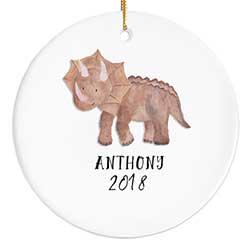 Triceratops Personalized Ornament