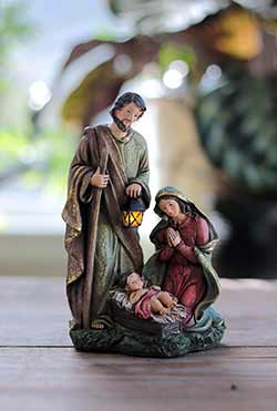 Light Up Holy Family Nativity Figurine