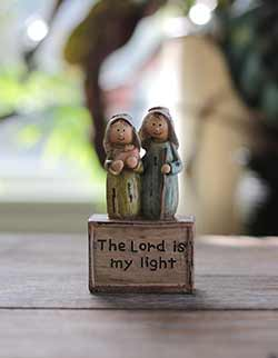 Holy Family with Child Figurine