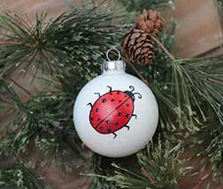 Ladybug Personalized Glass Ornament