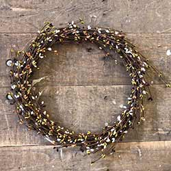 Burgundy, Olive, Tea Stain, Cream Pip Berry Wreath (16 inch)