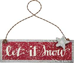 Let it Snow Tin Sign Ornament