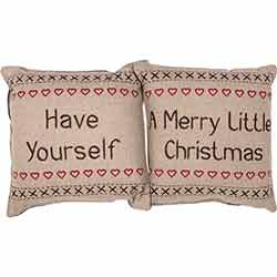 Have Yourself A Merry Little Christmas Pillow (Set of 2)