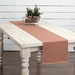 Jonathan Plaid Ribbed 90 inch Table Runner