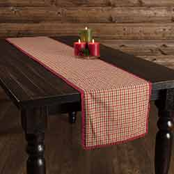 Jonathan Plaid Ruffled 90 inch Table Runner
