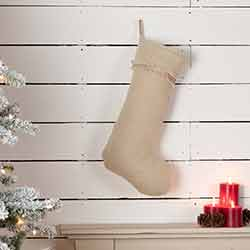 Burlap Vintage 20 inch Stocking