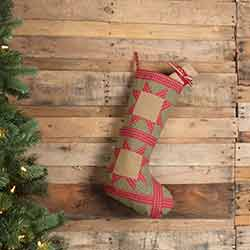Dolly Star Green Patch 20 inch Stocking