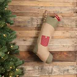 Dolly Star Red Pocket 20 inch Stocking