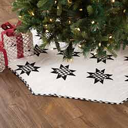 Emmie Black Patchwork 55 inch Tree Skirt