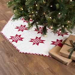 Emmie Red Patchwork 55 inch Tree Skirt