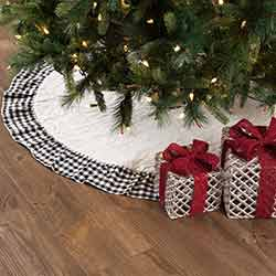 Emmie Black Ruffled 48 inch Tree Skirt