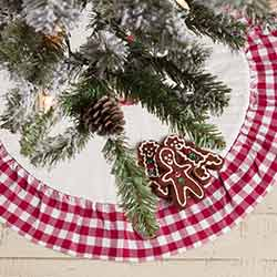 Emmie Red Ruffled Mini 21 inch Tree Skirt