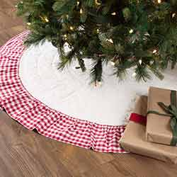Emmie Red Ruffled 60 inch Tree Skirt